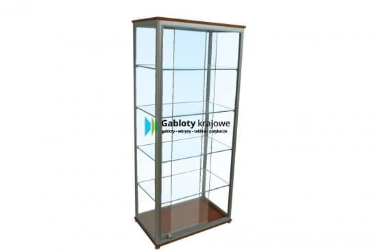 Szklana gablota 45-WS2A-YZ aluminiowa wolnostojąca