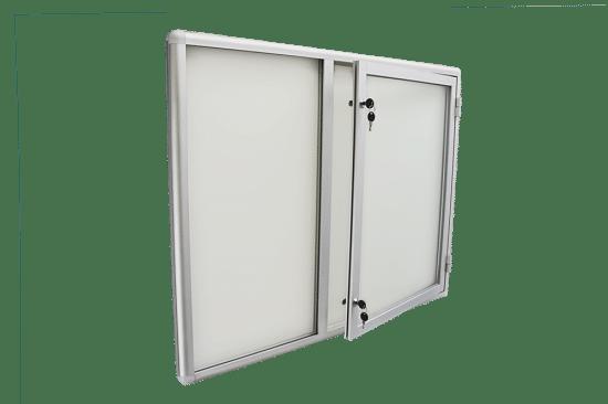 Szklana gablota 4JC3G5 wewnętrzna aluminiowa 1-skrzydłowa