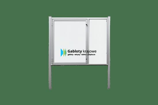 Gablota ze szkła 4WJCP6G2 zewnętrzna wolnostojąca jednostronna
