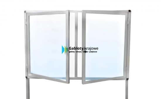 Gablota szklana 4WWJDBG6 wewnętrzna stojąca na boki