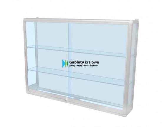 Gablota szklana 55-GPAP1-XZ aluminiowa wisząca dwuskrzydłowa