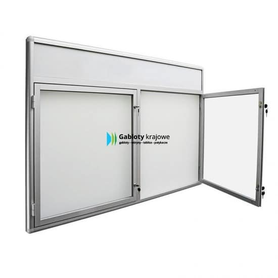 Gablota szklana 58-DS3F-YY aluminiowa wisząca uchylna