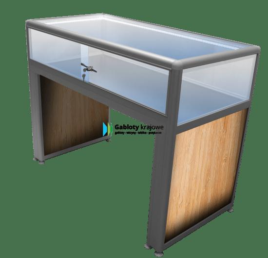 Gablota szklana 5M22G2 drewniana przesuwana na boki
