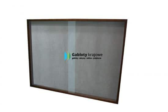 Szklana gablota 6GM2G1 aluminiowa wisząca jednoskrzydłowa