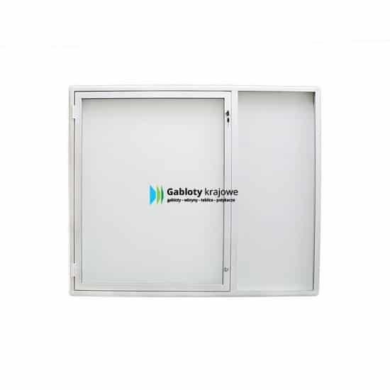 Gablota szklana 6JCP6G4 zewnętrzna aluminiowa