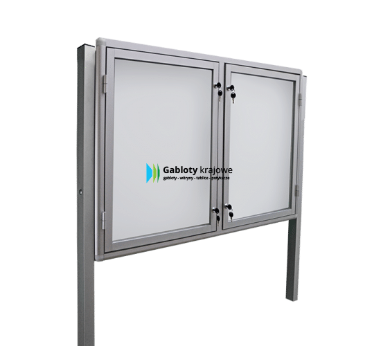 Gablota ze szkła 98-WDSP6-VQ aluminiowa uchylana na boki