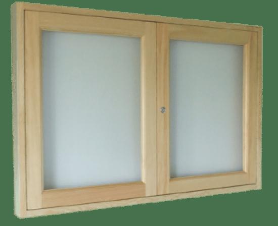 Gablota szklana 99-SD7-ZQ drewniana jednostronna na boki