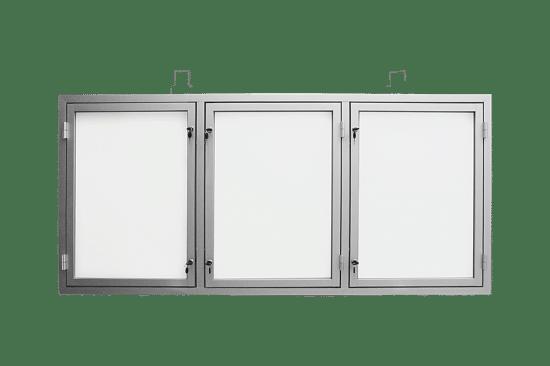Gablota szklana 9TS3,2G7 aluminiowa jednostronna trzyskrzydłowa
