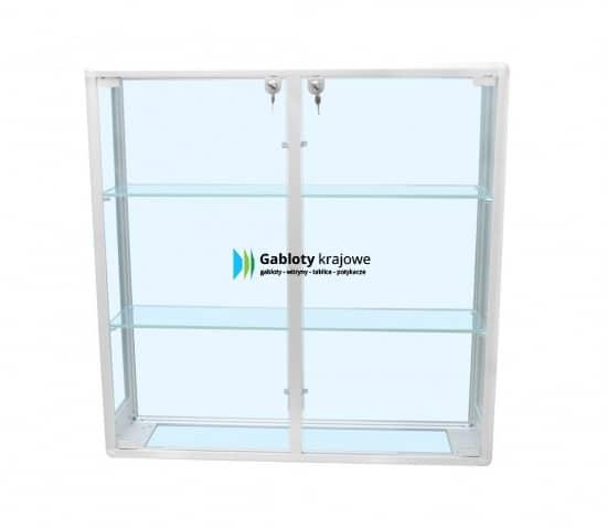 Szklana gablota 9WW3G4 aluminiowa wisząca dwuskrzydłowa