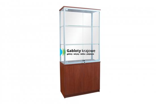 Szklana gablota sklepowa 2WS7G8 jednostronna dwuskrzydłowa uchylana