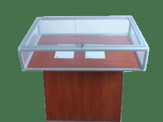 Szklana gablota sklepowa 55-WS10-ZV aluminiowa jednoskrzydłowa