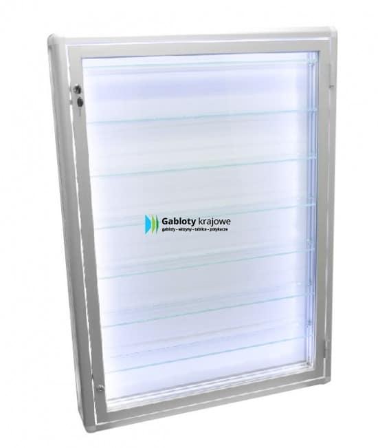 Witryna ze szkła 08-GK1-VZ aluminiowa uchylana na boki
