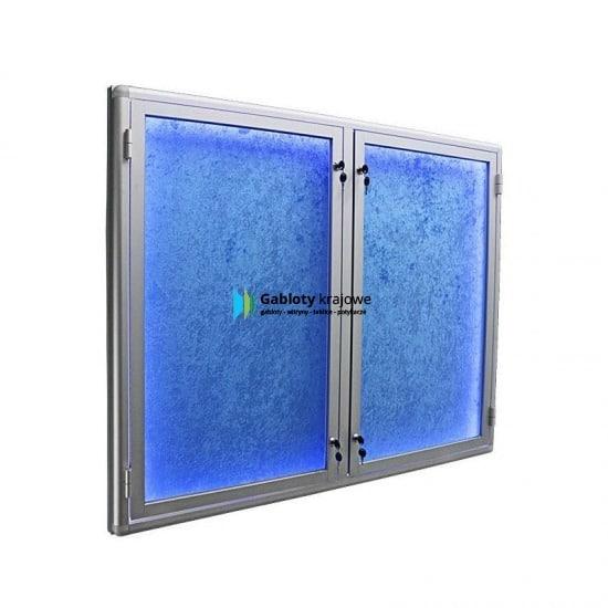 Witryna szklana 20-DSP6-XQ aluminiowa dwuskrzydłowa na boki