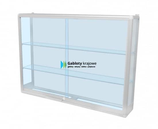Witryna szklana 2WW6G7 aluminiowa dwuskrzydłowa przesuwana