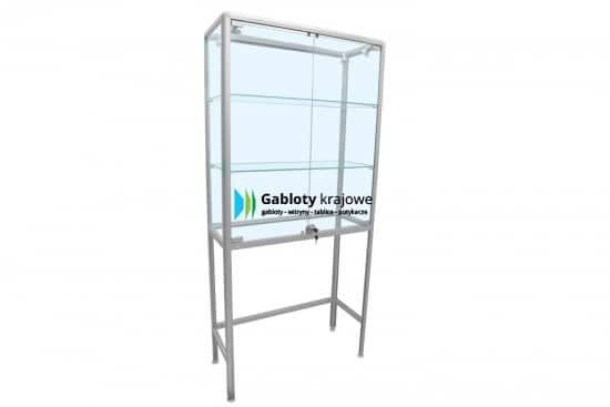 Witryna szklana 3WS28G2 aluminiowa uchylana