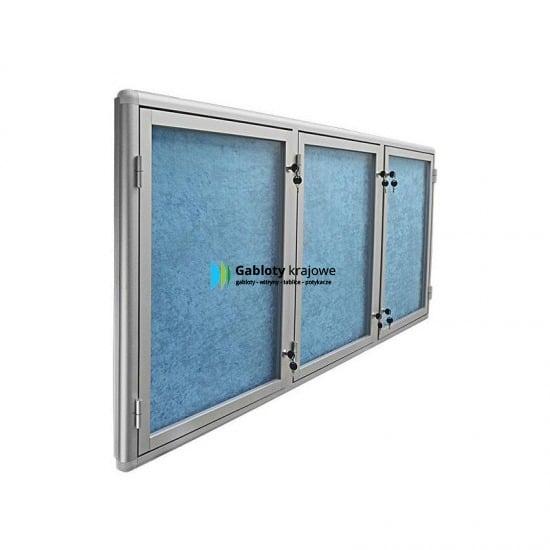 Witryna szklana 4TS3G4 aluminiowa uchylana
