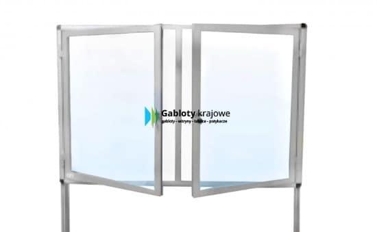 Witryna szklana 4WWJDBG6 aluminiowa dwuskrzydłowa