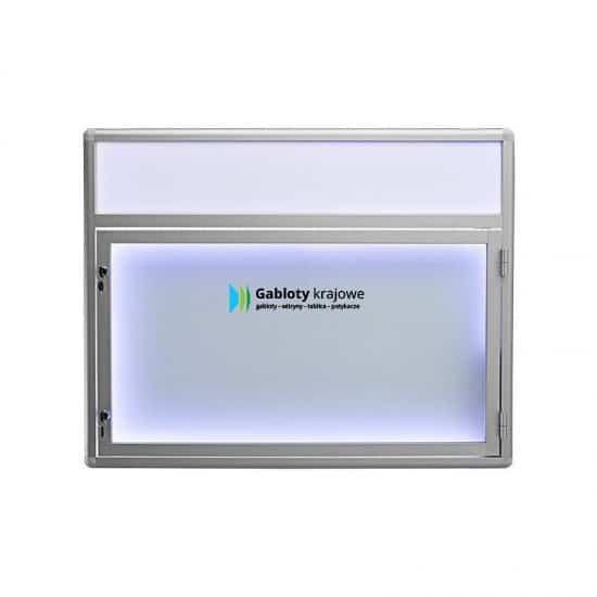 Witryna szklana 6JBP6FG7 aluminiowa na boki