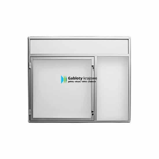 Szklana witryna 7JCP6FG5 aluminiowa wisząca na boki