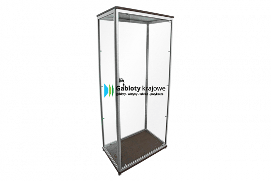 Witryna stojąca 20-WS5-ZQ wewnętrzna aluminiowa na boki