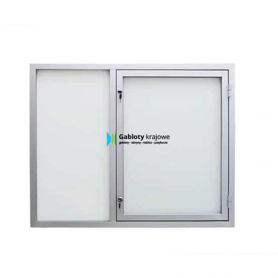 Witryna szklana 01-C3,2-QQ aluminiowa jednostronna na boki