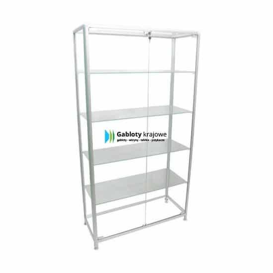 Witryna szklana 02-WS-VQ aluminiowa wolnostojąca dwuskrzydłowa
