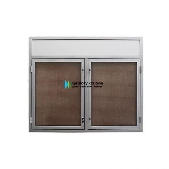 Witryna szklana 05-DS3,2F-VX aluminiowa wisząca