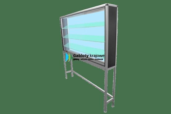 Szklana witryna 1WS16G8 drewniana wolnostojąca na boki