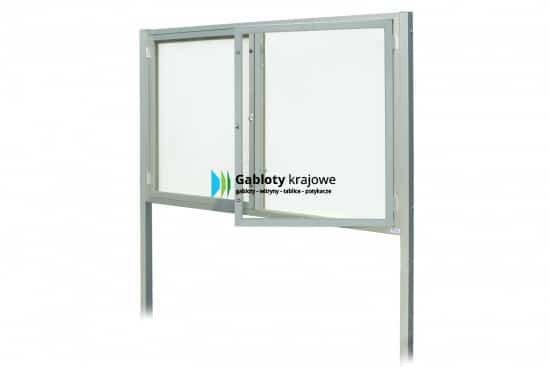 Szklana witryna 20-WDSP6,2-ZX aluminiowa dwuskrzydłowa na boki