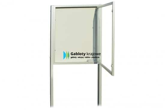 Szklana witryna 21-WJBP6-XX aluminiowa jednostronna na boki