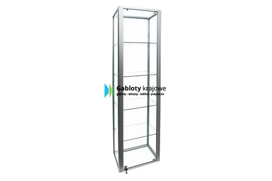 Szklana witryna 21-WS3-ZZ aluminiowa jednostronna uchylna