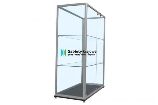 Witryna szklana 25-WS33-QV aluminiowa stojąca dwuskrzydłowa