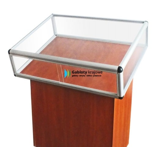 Witryna szklana 32-WS11-ZQ drewniana przesuwna na boki