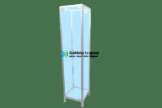 Witryna szklana 3WS18G1 aluminiowa wolnostojąca jednoskrzydłowa