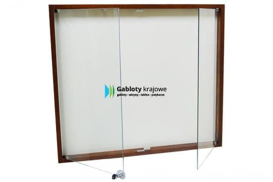 Witryna szklana 5DSD7HG1 drewniana 2-skrzydłowa na boki