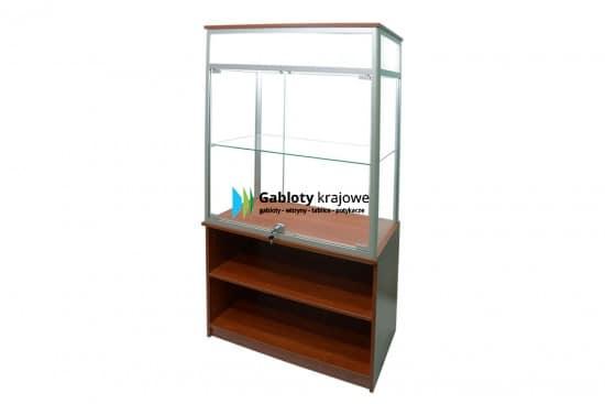 Szklana witryna 6WS31G5 aluminiowa stojąca dwuskrzydłowa