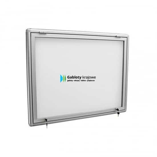 Szklana witryna 8JG3G6 aluminiowa uchylna do góry