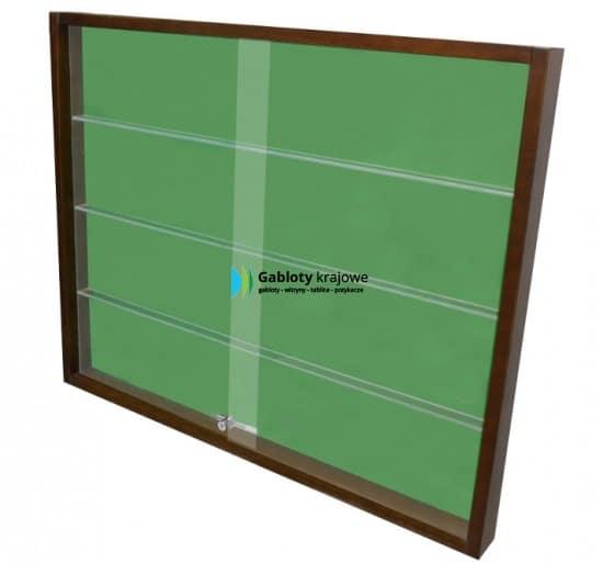 Witryna szklana 02-K2-VX drewniana 1-skrzydłowa