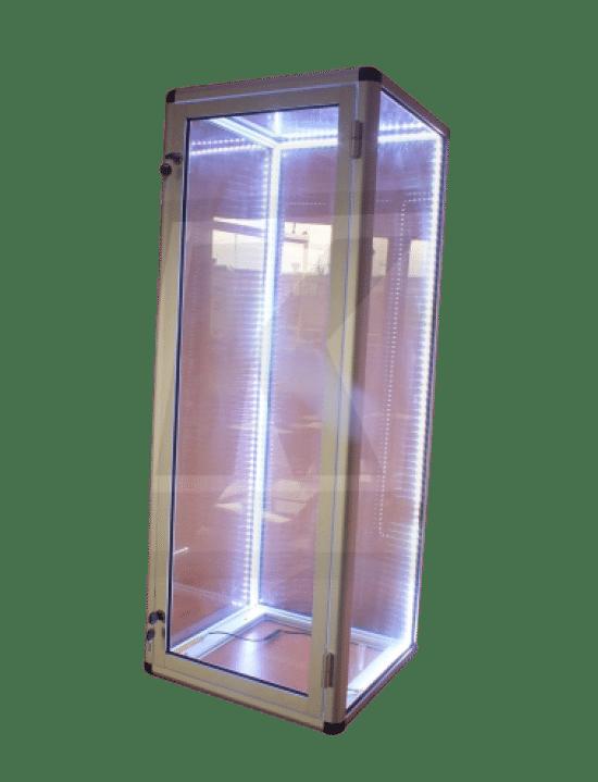 Witryna szklana 03-WW8-VY aluminiowa wolnostojąca jednostronna