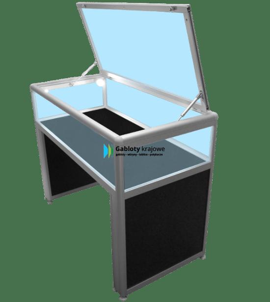 Witryna szklana 23-M21T-XZ drewniana wolnostojąca jednostronna
