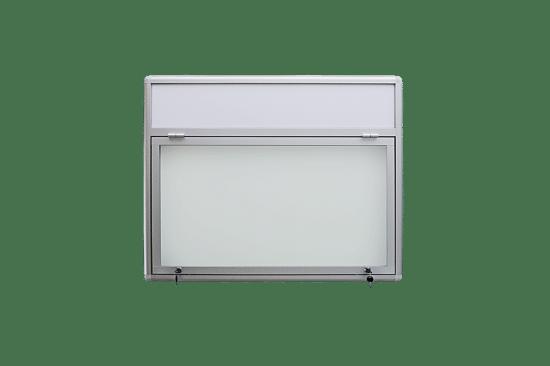 Szklana witryna 32-JG3F-VZ aluminiowa jednostronna 1-skrzydłowa