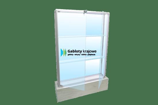 Witryna szklana 48-WS9-ZQ stojąca jednoskrzydłowa na boki