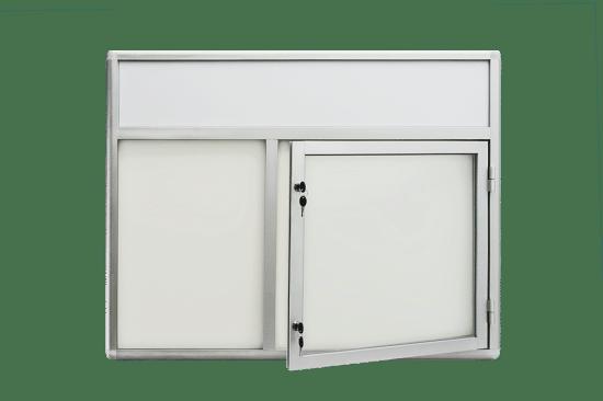 Witryna szklana 5JC3FG6 aluminiowa na boki