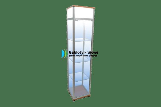 Szklana witryna 7WS22G5 drewniana wolnostojąca uchylana